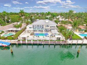 View of Harbor Beach real estate from the water
